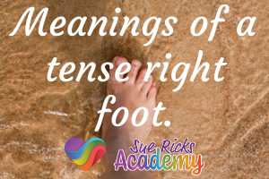 Meanings of a tense right foot